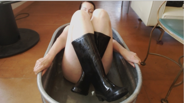 Rubber boot sex
